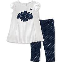 Calvin Klein Baby Girls' 2 Piece Tunic and Printed Legging Set-Gingham