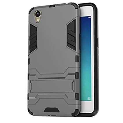 finest selection d8c01 f3608 BRK Military Grade Shockproof Armor with Kick Stand Version 2.0 Back Cover  Case for Oppo A37/Oppo A37F - Grey