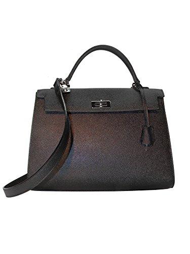 Viviani Artisan Leather Goods, Florence - Sac en cuir avec bandoulière noire