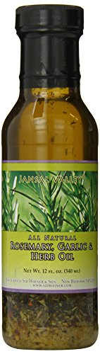 (Jansal Valley Rosemary Garlic and Herb Oil, 12 Fl Oz)