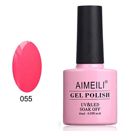 AIMEILI Soak Off UV LED Gel Nail Polish - Neon Shocking Pink