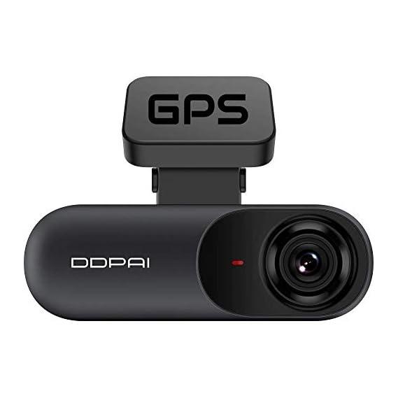 DDPAI N3 Car Dash Camera with GPS Bracket, 2K+ 1600P UHD Resolution, 5MP CMOS Sensor, F1.8 Aperture, 140