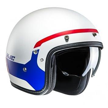 HJC Moto Casco FG de 70s modik mc21sf, color blanco/azul/rojo,