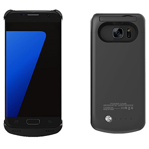 S7 Battery Case – BIGFOX 4200mAh Ultra Slim Rechargeable Extended Battery Charging Case For Samsung Galaxy S7, Backup Charger Case Power Bank Case With Kickstand For S7