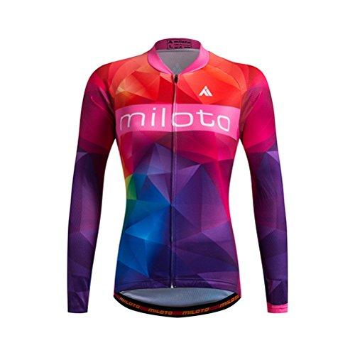 誘惑するコンサート経度Uriah Women 's Cycling Jersey熱フリース長袖Reflective