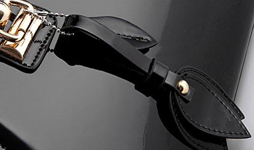 Main Vin Satchel Rouge Avec Nuclerl Supérieure Designer Poignée Bandoulière À noir Sac Femmes Bow Pour Les Sacs Shape vUwqIa