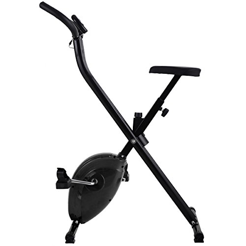 Folding Exercise Bike Home Magnetic Trainer Fitness Stationary Machine New - Black by Eight24hours (Image #1)'