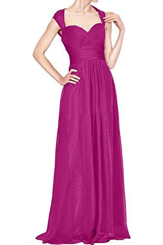 Brautmutterkleider Pink Lang Chiffon Linie Blau La Royal Elegant A Festlichkleider Braut Partykleider Rock mia Abendkleider q6x0Unw4f