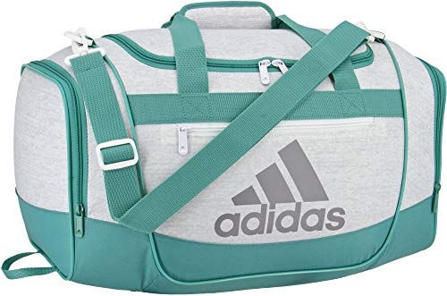 adidas Defender III Small Duffle Bag (Jersey White/True Green)
