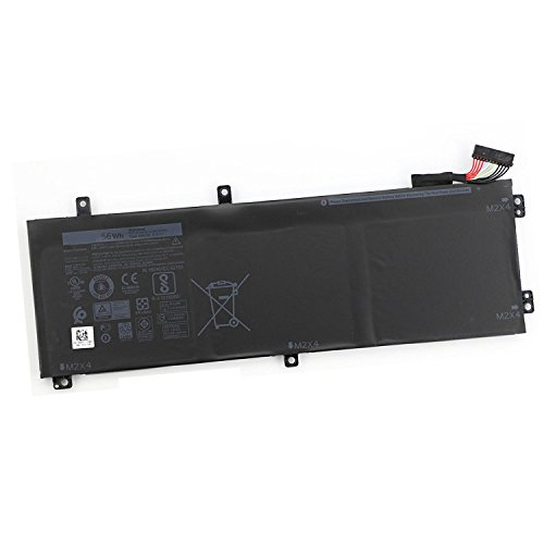 Eleskylaptop New 11.4V 56Wh H5H20 56WHR 62MJV M7R96 Laptop Battery Compatible with Dell XPS 15 9560 Precision 5520 Notebook