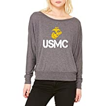 ARTIX USMC US Marine Corps People Women Flowy Off Shoulder T-Shirt