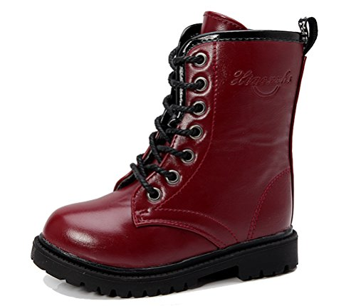 iDuoDuo Kids Outdoor Calf Boot Zipper Waterproof Dress Martin Boots (Toddler/Little Kid/Big Kid)