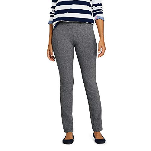 Lands' End Women's Starfish Slim Leg Elastic Waist Pants Mid Rise