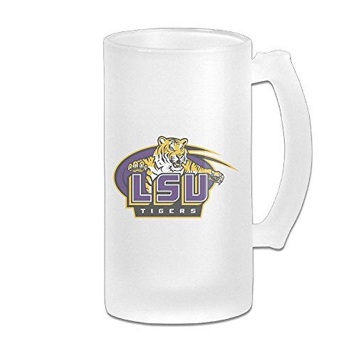 [CYANY Louisiana State University LSU Beer Glass Frosted White Pub COOL 16-Ounce Mug] (Lsu Mascot Costume)