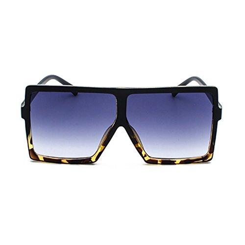 grandes mujeres Gafas Gafas Gris de de gran tamaño gafas marco Hombres las para del Aiweijia de vendimia de la Gafas sol de sol napqBWcHw8