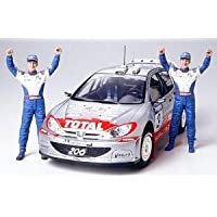 # 24262 Tamiya Peugeot 206 WRC 2002 1/24 Kit de modelo de plástico, conjunto de necesidades