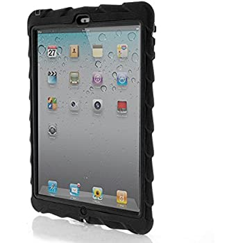 Apple iPad Air Drop Tech Black Gumdrop Cases Silicone Rugged Shock Absorbing Protective Dual Layer Cover Case