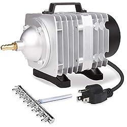 VIVOSUN Air Pump 1110 GPH 8 Outlet 50W 70L/min Commercial Air Pump for Aquarium and Hydroponic Systems (50 W)