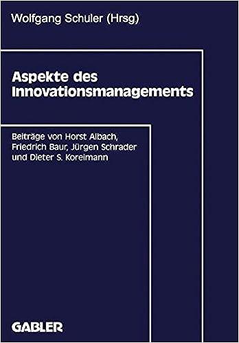 Gratis lyd for bøker på nettet, ikke nedlasting Aspekte des Innovationsmanagements (German Edition) 3409132058 PDF