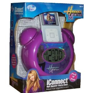 iConnect Hannah Montana Mp3 Speaker Alarm (Hannah Montana Alarm Clock)