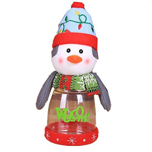 Christmas candy jar 3 piece set food decoration