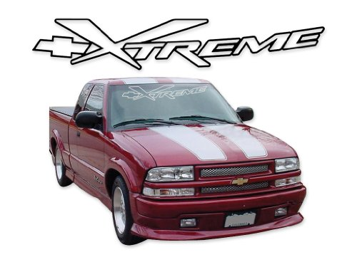 General Motors 2002 2003 Chevrolet Truck S10 Xtreme Extreme Decals & Stripes Kit - Silver