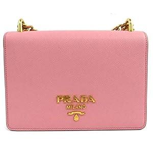 Prada Chain Crossbody Bag Pink Saffiano Leather 1BD133