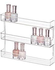 "InterDesign Clarity 12"" Bathroom Vanity Countertop Multi Level Organizer for Cosmetics, Makeup, Vitamins, Medicine - Clear, Various Style"