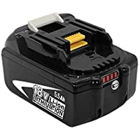 FUNMALL BL1860B 18V vervanging voor Makita Accu BL1850B BL1840B BL1830B BL1850 BL1840 BL1830 BL1815 194205-3 194309-1…