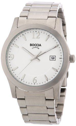 Boccia B3550-01 Mens White Dial Titanium Bracelet Watch