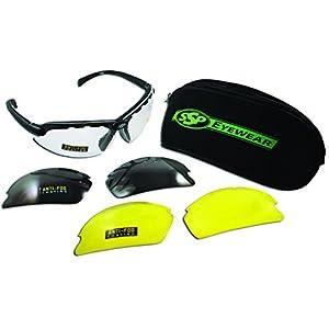 SSP Eyewear 1.50 Bifocal Shatterproof Shooting Glasses Kit with Assorted Color Lenses, DENIAL 1.50