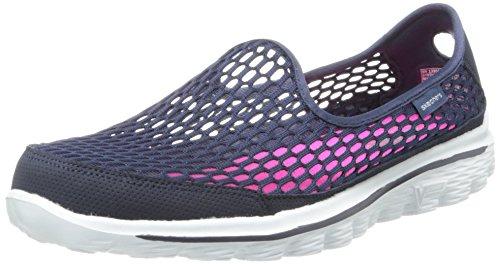 fantastische besparingen enorme selectie van nieuw ontwerp Skechers Women's Go Walk 2 Super Breathe Walking Shoe,Navy ...