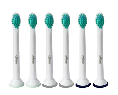 Ogeee Replacement Toothbrush Heads, Replaces Philips Sonicare HX6024,HX6023 ProResults Compact, Compatible with Philips Sonicare DiamondClean, FlexCare, FlexCare+, FlexCare Platinum and More(6 Counts)