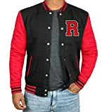 Black and Red Football Jacket - Track Jacket Men | R Red Sleeve | S