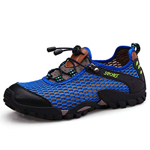 Shoes Man Wading Azer Sportivi Outdoors Holes Breathable da Scarpe Blue Sandals k05 Viken All'aperto Acqua UK Hiking Estate Suola Corsa Sandali Walking Sneakers Donna Uomo Antiscivolo vHx7fx