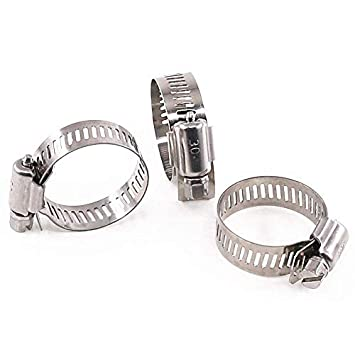 Automotive and Mechanical Application 20PCS Hose Clips,Stainless Steel Adjustable 10-16mm Range Worm Gear Hose Clamp Fuel Line Clamp Duct Clamps, Fuel Line Clamp for Plumbing