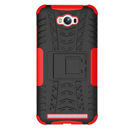 KATUMO® Buena Funda Zenfone MAX(5.5 pulgadas), Transparent Gel Case Cover Carcasa Bumper para ASUS Zenfone MAX Funda de Piel Protectora Carcasa Dura Cubierta Caja-Rosa Roja Rojo