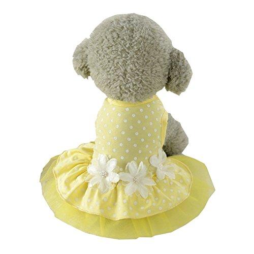 S-Lifeeling Sweet Spot Dress Spring Summer Teddy Dog Clothes Pet Costumes ()