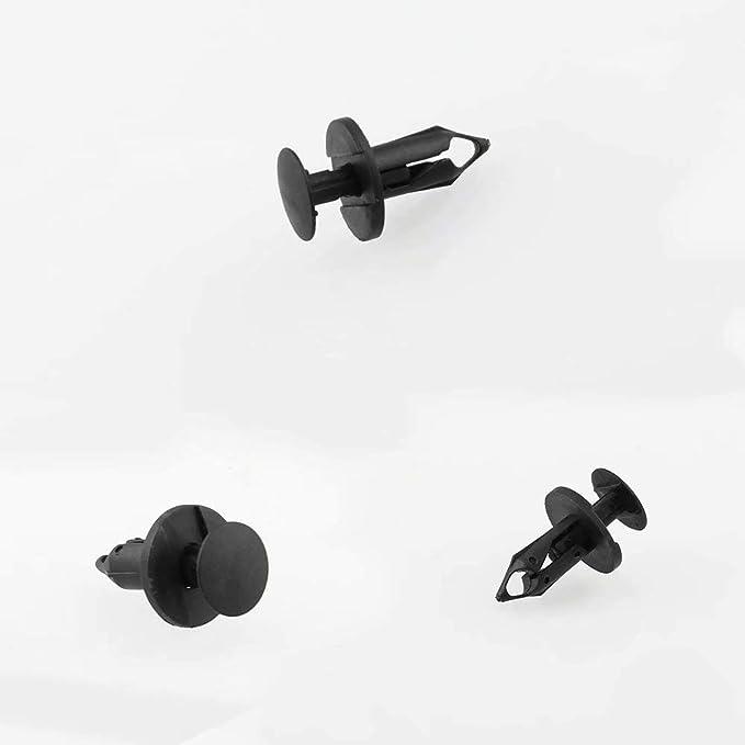 LINSUNG 240 Piezas 8mm Agujero Negro Plastico Remache Cierre Parachoques Clip Remache Clip