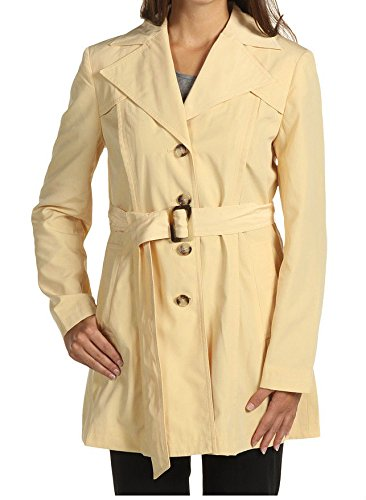 06b17b1f600fb Jones New York Light Yellow Lined Belted Trench Coat Jacket L 12-14 ...