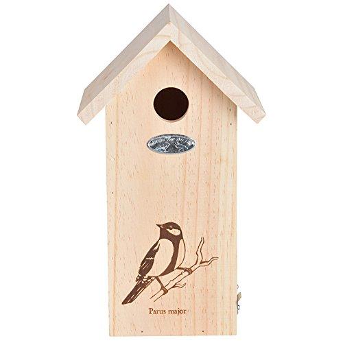 Esschert Design NK66 Birdhouse with Great Tit Line Drawing Review