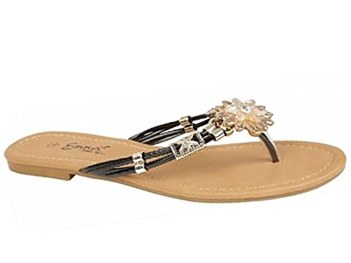 Black Footwear Zirconia l'arrière Ouvertes Foster femme fille à AqgBnZ