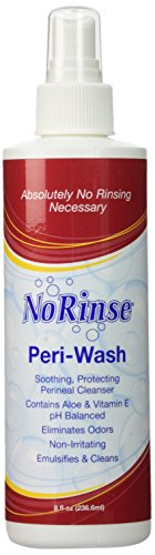 No Rinse Peri-Wash Body 8 oz Spray Bottle (Set of 2) Cleans & Deodorizes (Perineal Spray Wash Bottle)