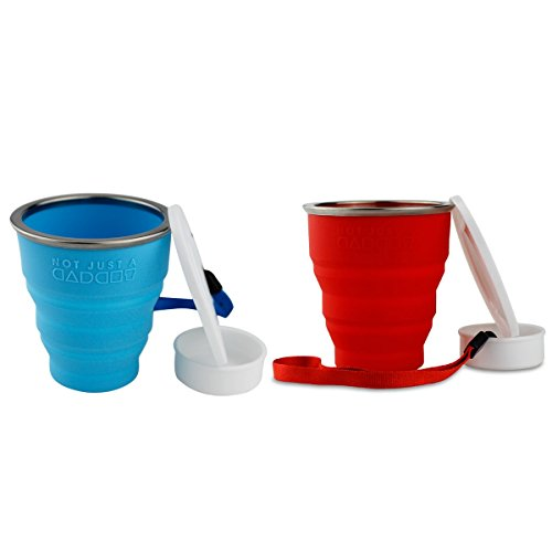 Collapsible Travel Cup - 100% Food-grade Silicone Mug for Camping and Hiking - by Not Just A Gadget