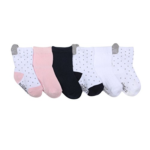 Robeez Baby 6pk Girls Pretty in Lace, Sweet Kitty/White/Navy/Light Pink, 6-12 Months -