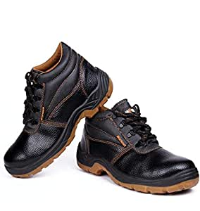 Hillson Black Safety Boot For Men
