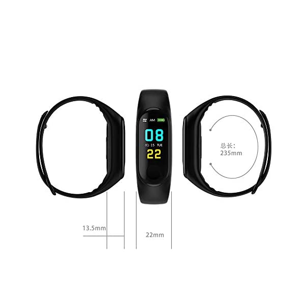 [category] N ZGZRONG Black Fitness Tracker, Health Tracker Color Screen