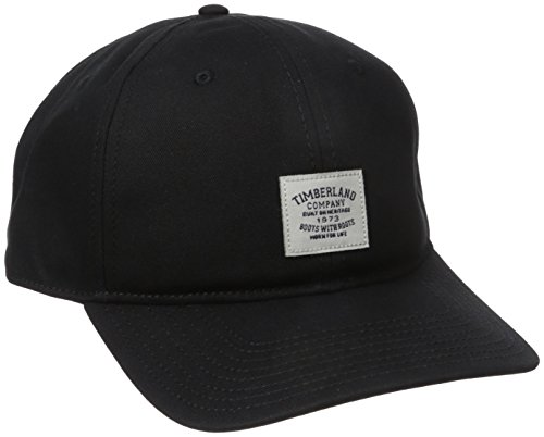 Timberland Men's Cotton Twill Baseball Cap Woven Patch, Black, One - Hats Ti