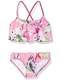 Girls' Alania Floral Flounce Bikini Beach Sport 2-Piece Swimsuit