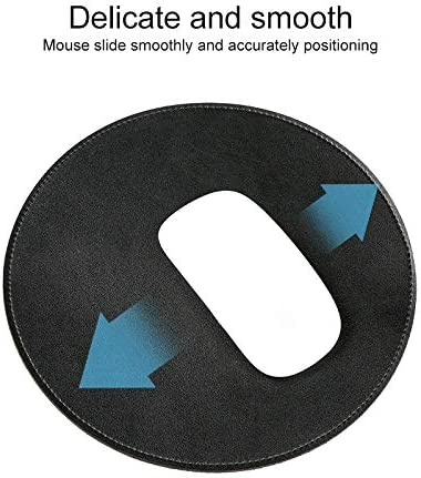 Wireless Mouse Keyboard Mouse Microfiber Crazy Horse Texture Circular Waterproof Mouse Pad New Bluetooth Black Color : Black